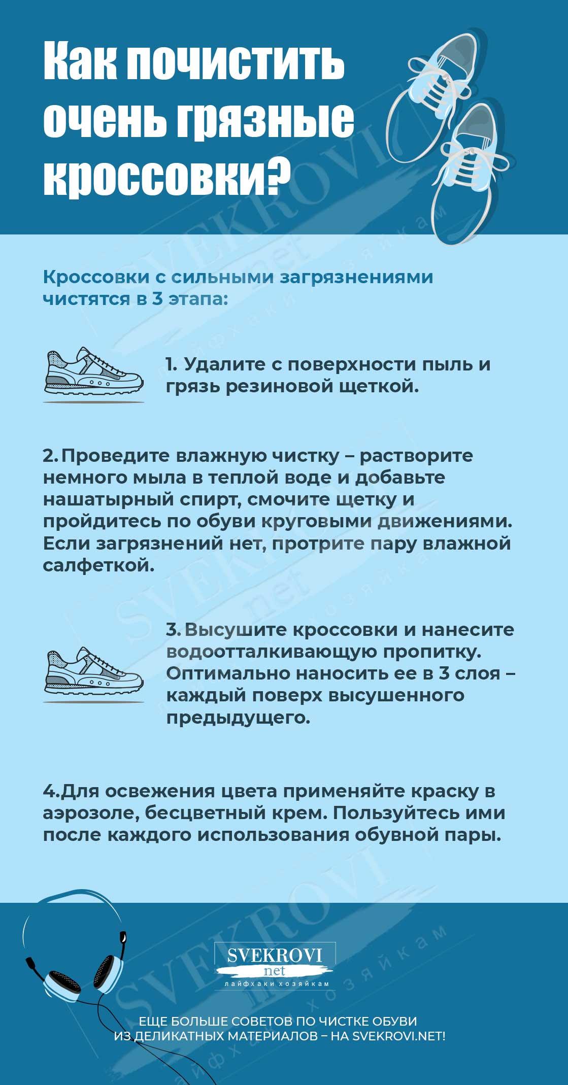 Почистить кроссовки от грязи