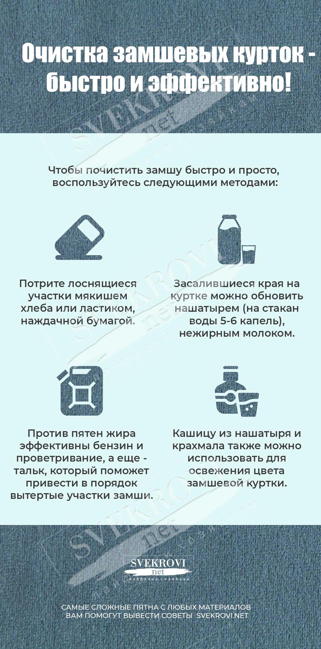 Способы чистки замши