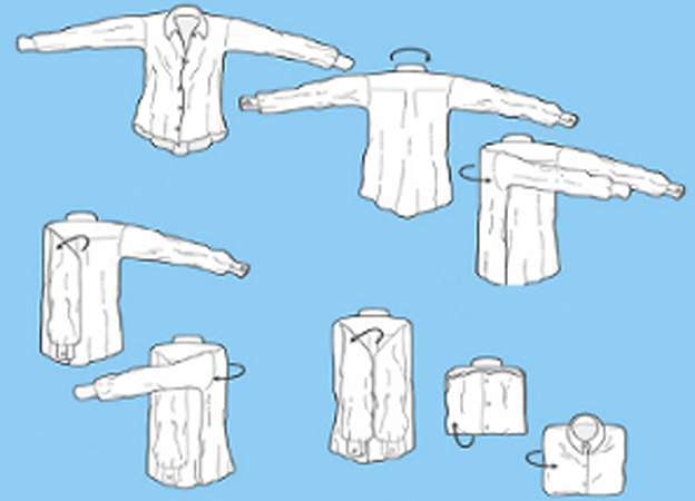 как сложить футболку чтобы занимала мало места программная оболочка в huawei занимает много