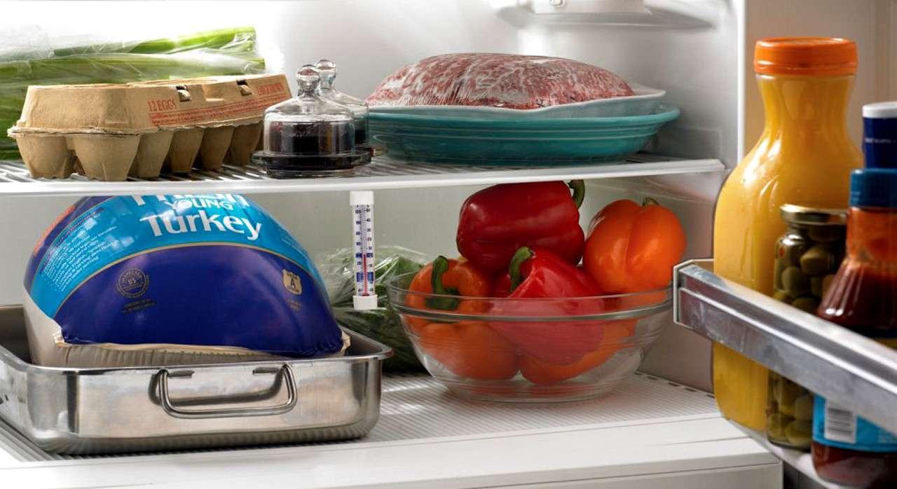 Перемолотое мясо в холодильнике