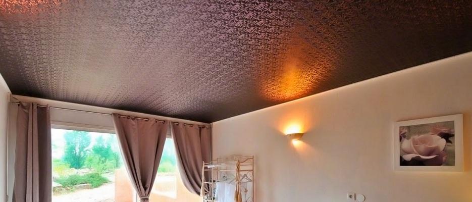 Тканый потолок
