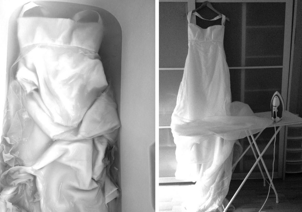 Как гладить платье
