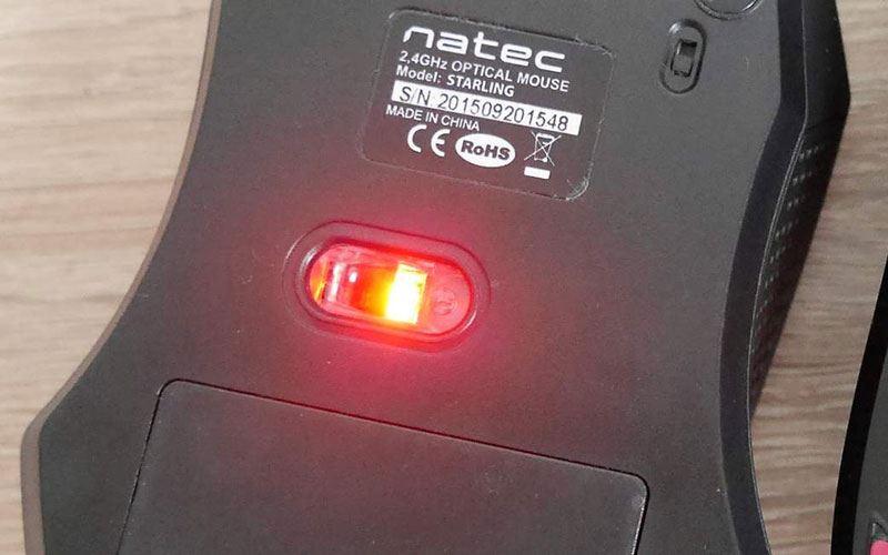 Красный свет мышки