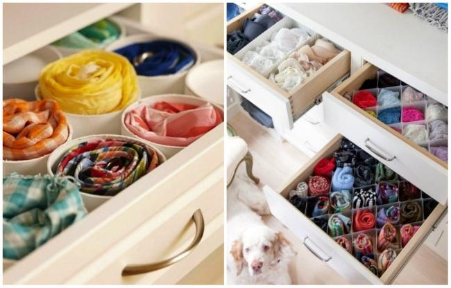 Компактное хранение одежды