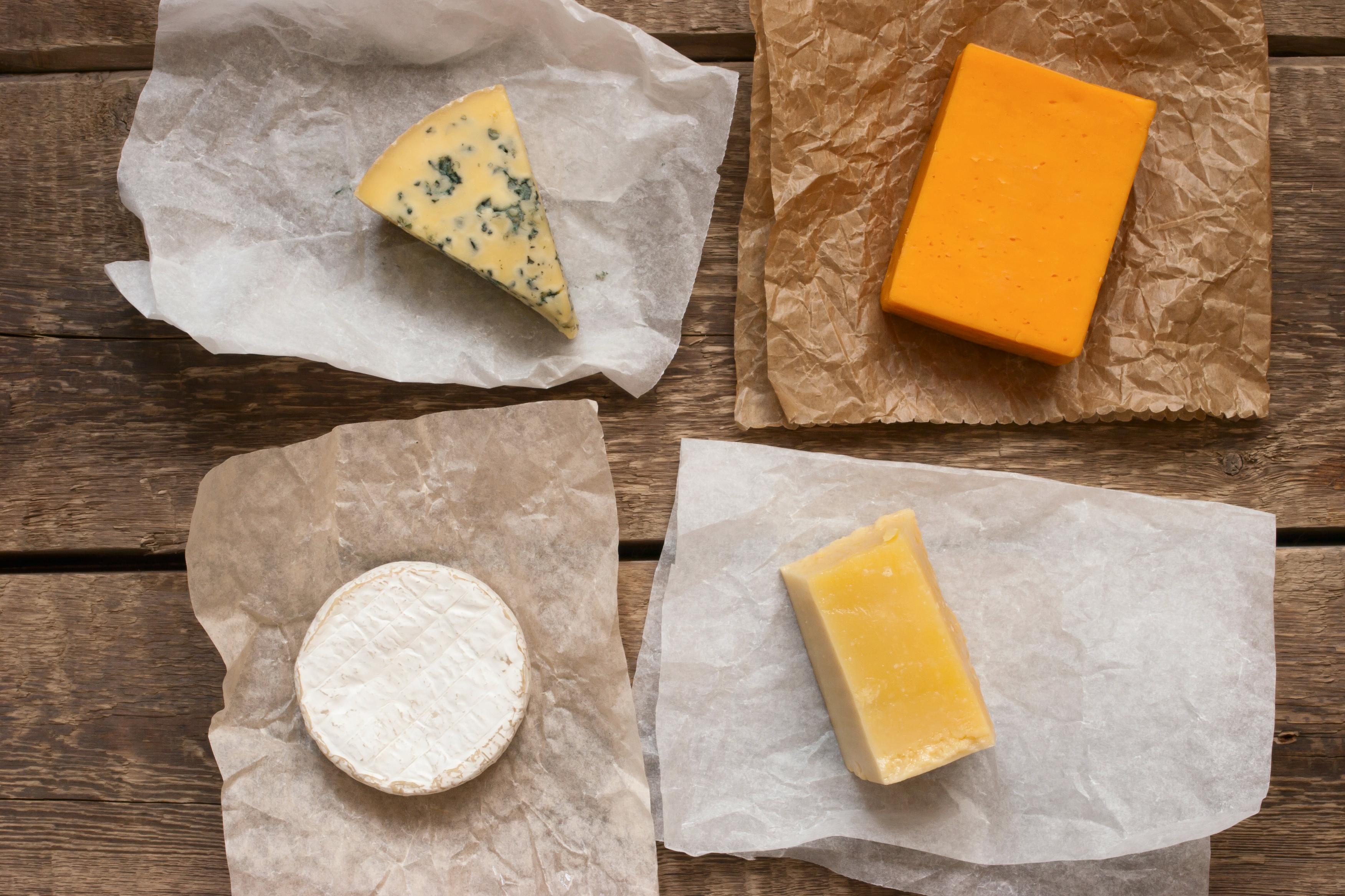 Заморозка сыра в бумаге