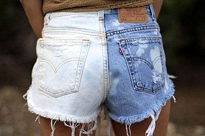 Изменение цвета джинса