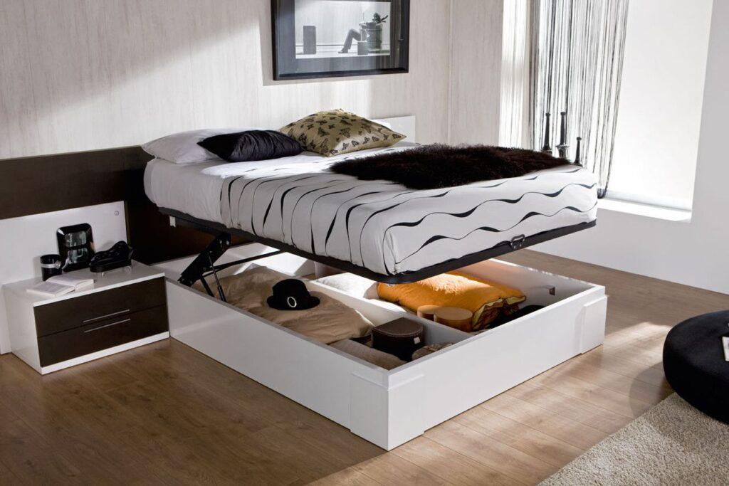 Подъемный механизм в кровати